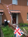 pathetic attempt at jubilee decorations at my house