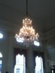 Beautiful chandelier inrestaurant