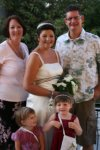 My brother and Sharon and my lovely nieces at my wedding