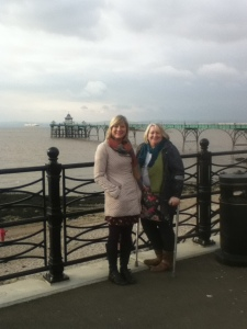 Jane and Deb by the pier
