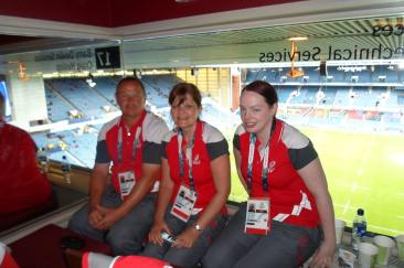 Steve, carole and Katie at ibrox