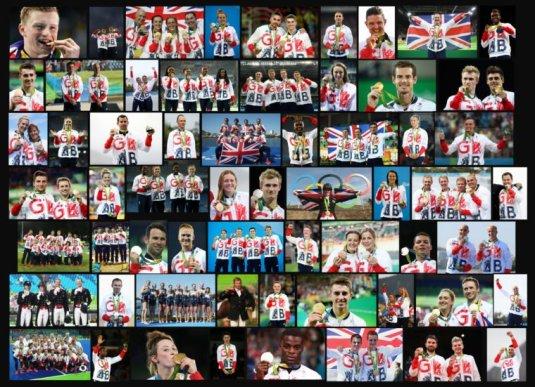 team GB medal winners Rio 2016
