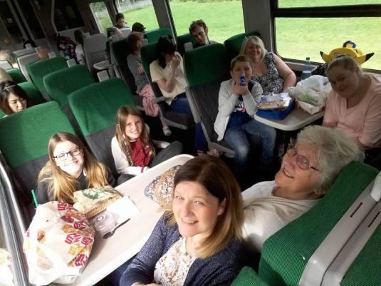 on train to weymouth
